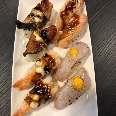 flaming sushi mix 8 stuks